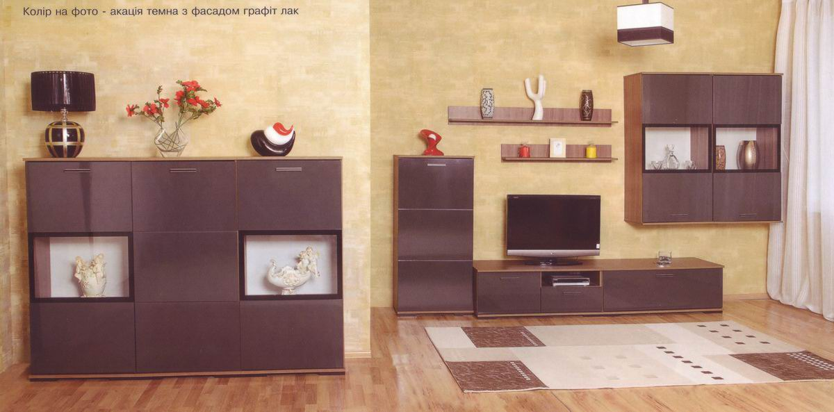 модульная система гостиной мишель белоцерковская мебельная